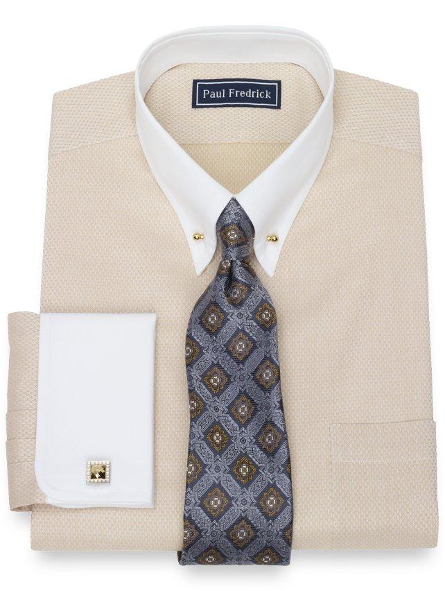 Cotton Twill Diamond Dress Shirt