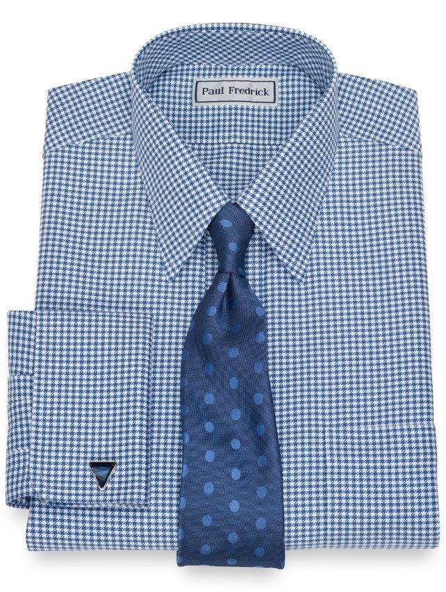 Non-Iron Impeccable Cotton Houndstooth Dress Shirt