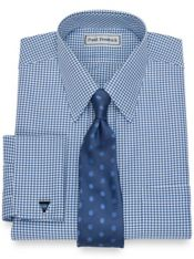 Impeccable Non-Iron Cotton Houndstooth Dress Shirt