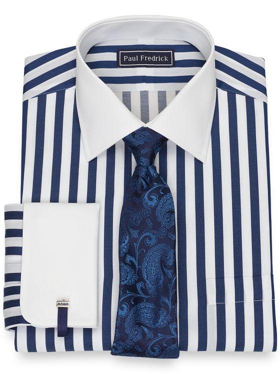 Pure Cotton Broadcloth Stripe Dress Shirt