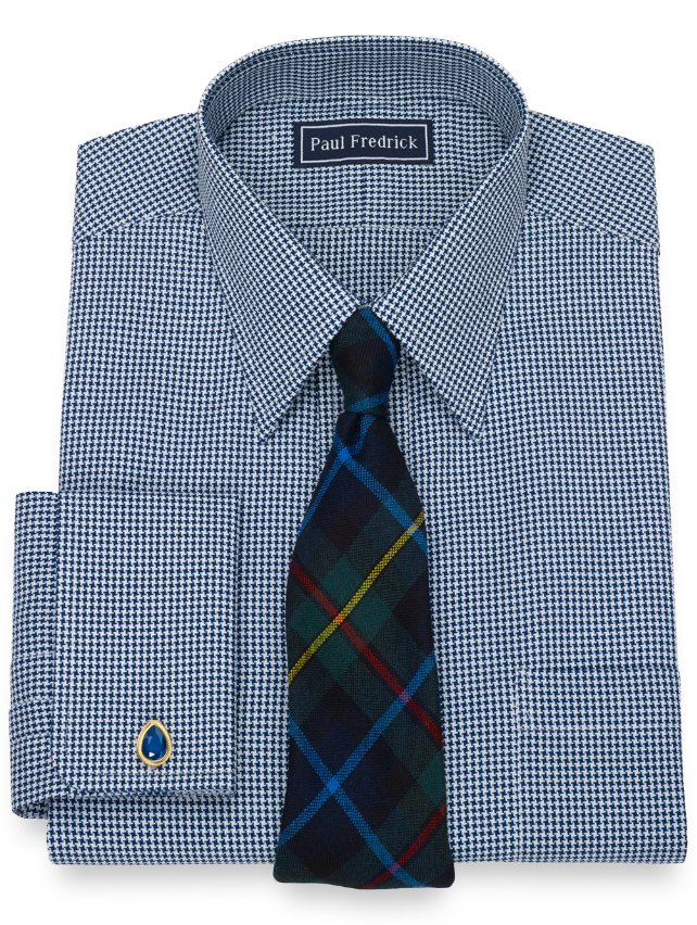 Cotton Houndstooth Dress Shirt