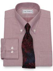 Non-Iron Cotton Textured Pattern Dress Shirt