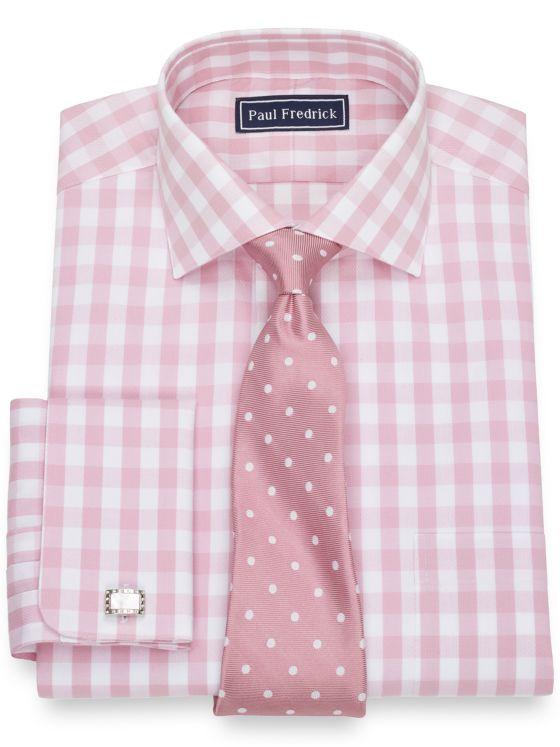Pure Cotton Broadcloth Gingham Dress Shirt