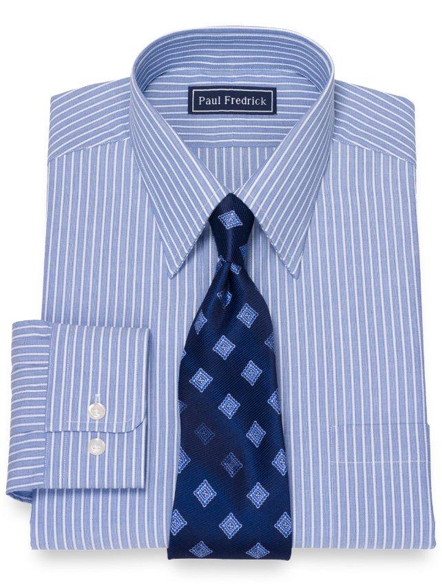 Cotton Rope Stripe Dress Shirt