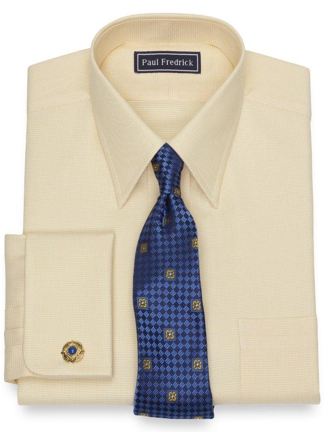 Cotton Textured Dress Shirt