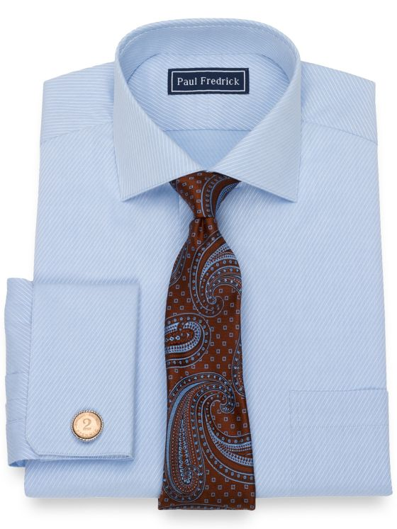 Slim Fit Pure Cotton Broadcloth Twill Dress Shirt
