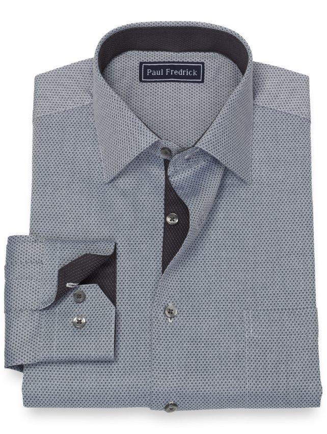 Cotton Mini Diamond Dress Shirt