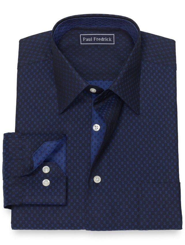 Slim Fit Cotton Deco Dress Shirt