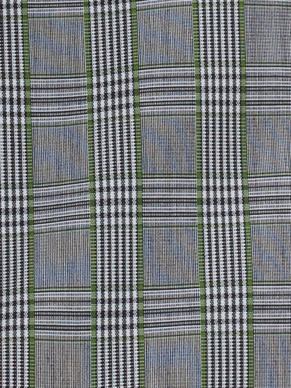 Tailored Fit Non-Iron Pinpoint Glen Plaid Dress Shirt with Contrast Trim