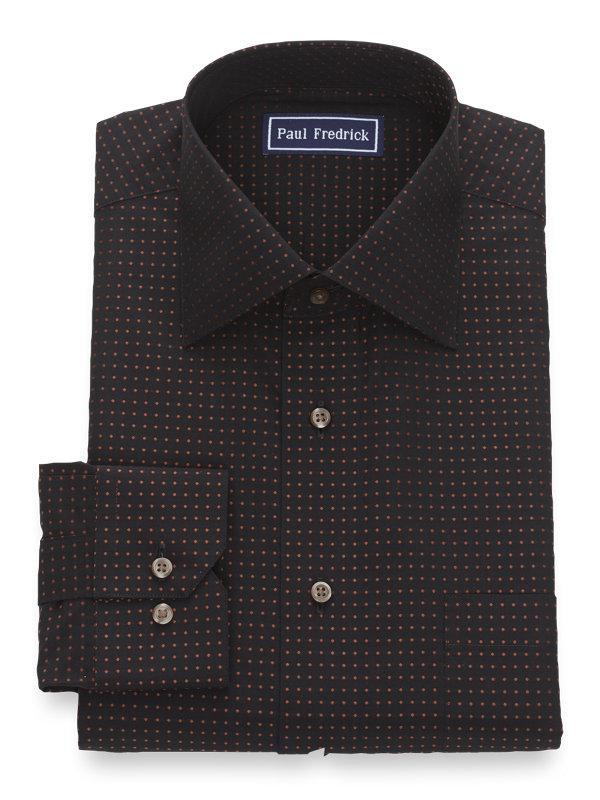 Slim Fit Pure Cotton Dot Button Cuff Dress Shirt