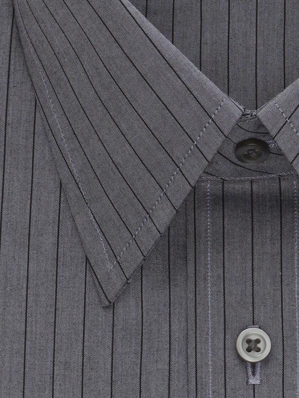 Slim Fit Pure Cotton Fine Line Stripe Button Cuff Dress Shirt