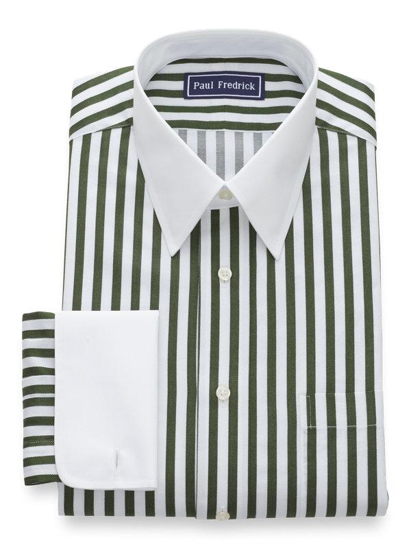 Pure Cotton Satin Stripe French Cuff Dress Shirt