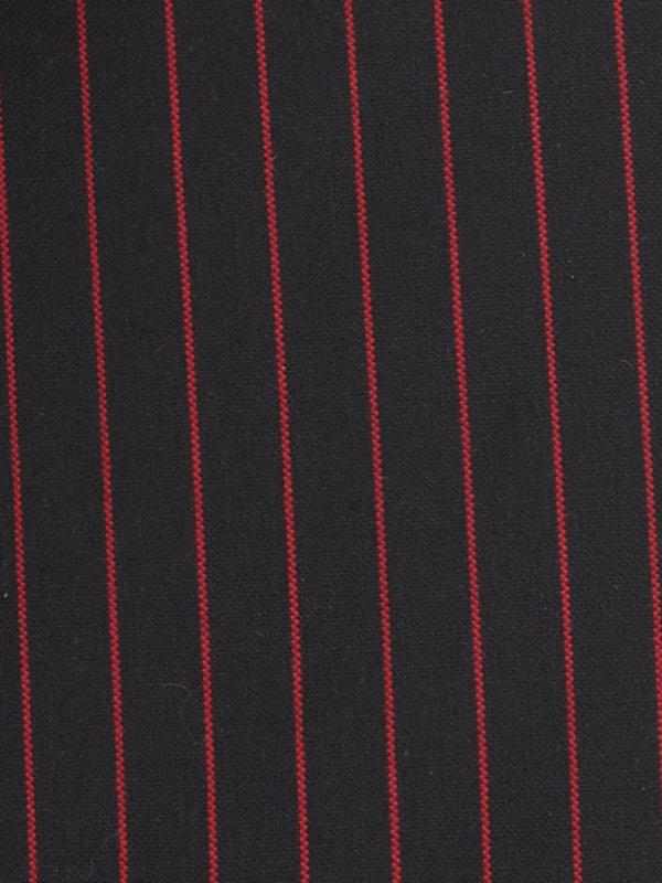 Tailored Fit Non-Iron Cotton Fine Line Stripe Dress Shirt with Contrast Trim