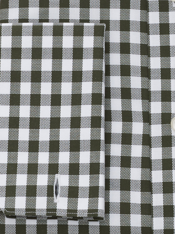 Slim Fit Pure Cotton Gingham French Cuff Dress Shirt