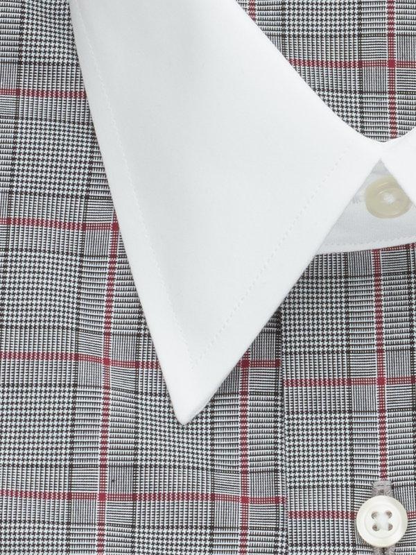 Pure Cotton Plaid French Cuff Dress Shirt