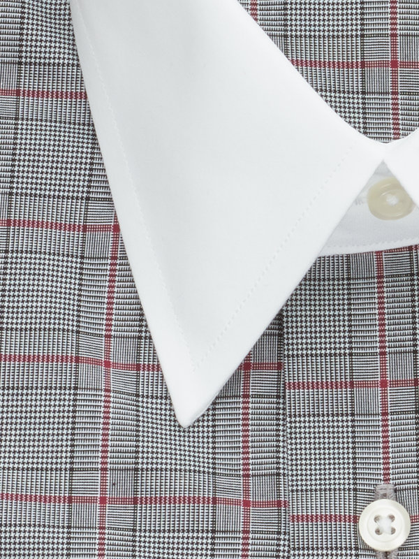 Slim Fit Pure Cotton Plaid French Cuff Dress Shirt