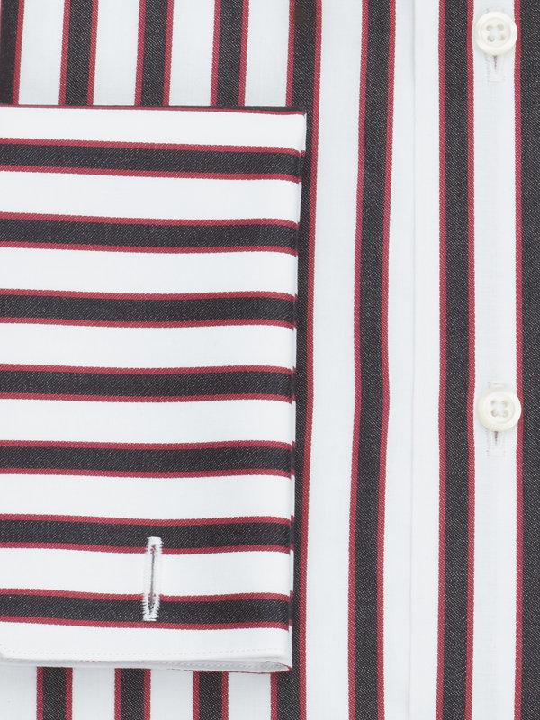 Pure Cotton Shadow Stripe French Cuff Dress Shirt
