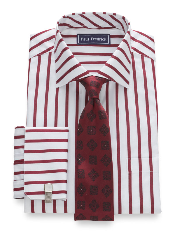 Slim Fit Pure Cotton Bold Stripe French Cuff Dress Shirt