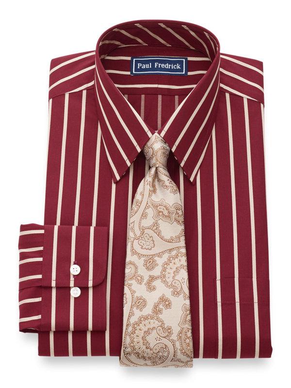 Pure Cotton Satin Stripe Button Cuff Dress Shirt