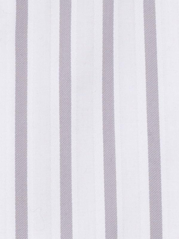 Slim Fit Pure Cotton Stripe Button Cuff Dress Shirt