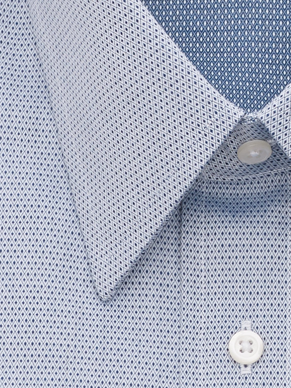Egyptian Cotton Mini-Diamond French Cuff Dress Shirt