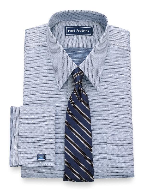 Slim Fit Egyptian Cotton Mini-Diamond French Cuff Dress Shirt