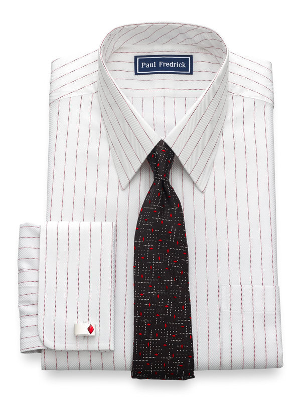 Slim Fit Egyptian Cotton Stripe French Cuff Dress Shirt