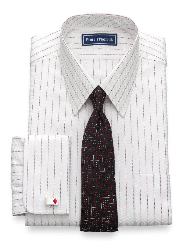Slim Fit Egyptian Cotton Stripe French Cuff Dress Shirt