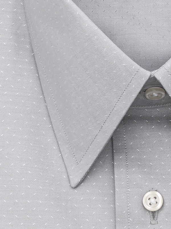 Slim Fit Egyptian Cotton Grey Deco French Cuff Dress Shirt