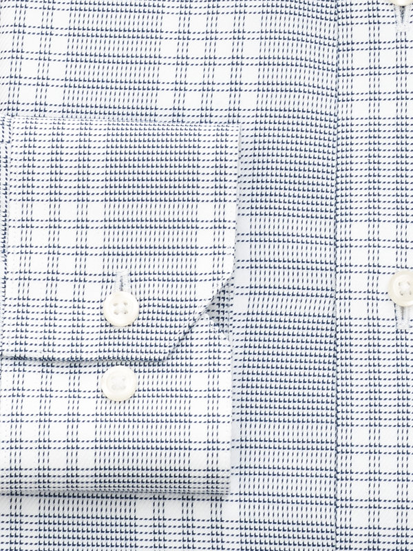 Egyptian Cotton Check Button Cuff Dress Shirt