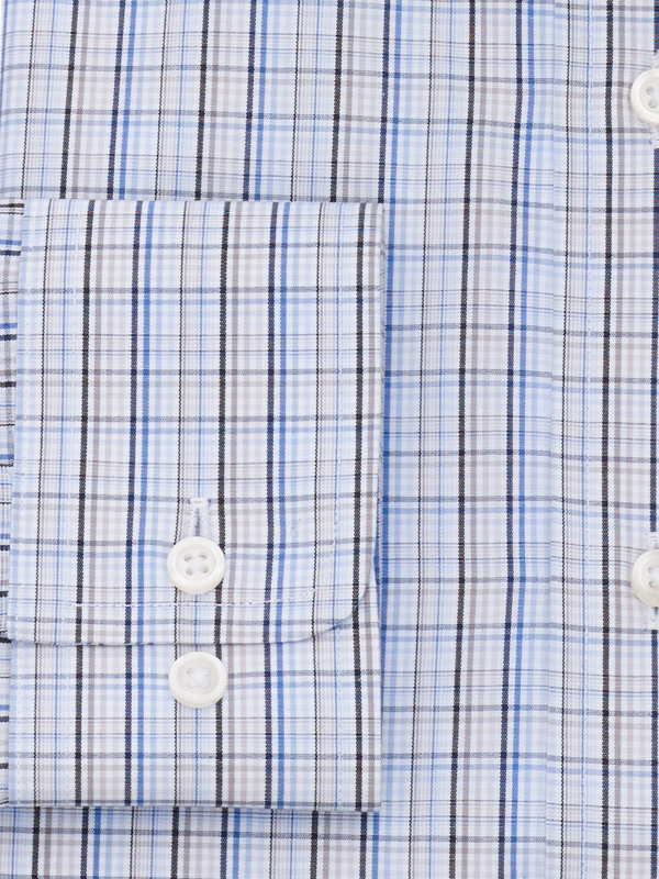 Pure Cotton Tattersall Button Cuff Dress Shirt