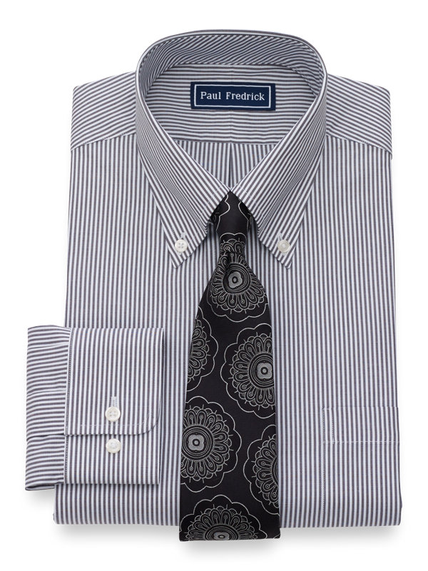 Pure Cotton Bengal Stripe Button Cuff Dress Shirt
