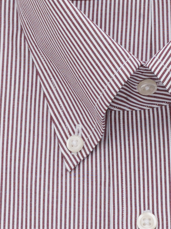 Slim Fit Pure Cotton Fine Line Stripe Button Cuff Dress Shirt
