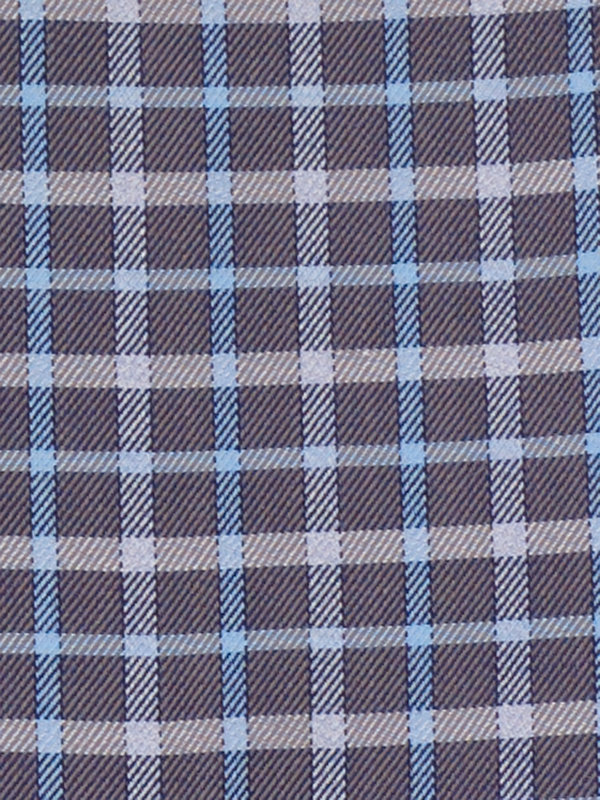 Pure Cotton Check Button Cuff Dress Shirt