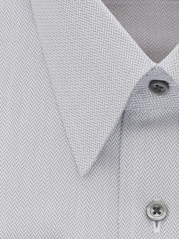 Pure Cotton Herringbone French Cuff Dress Shirt