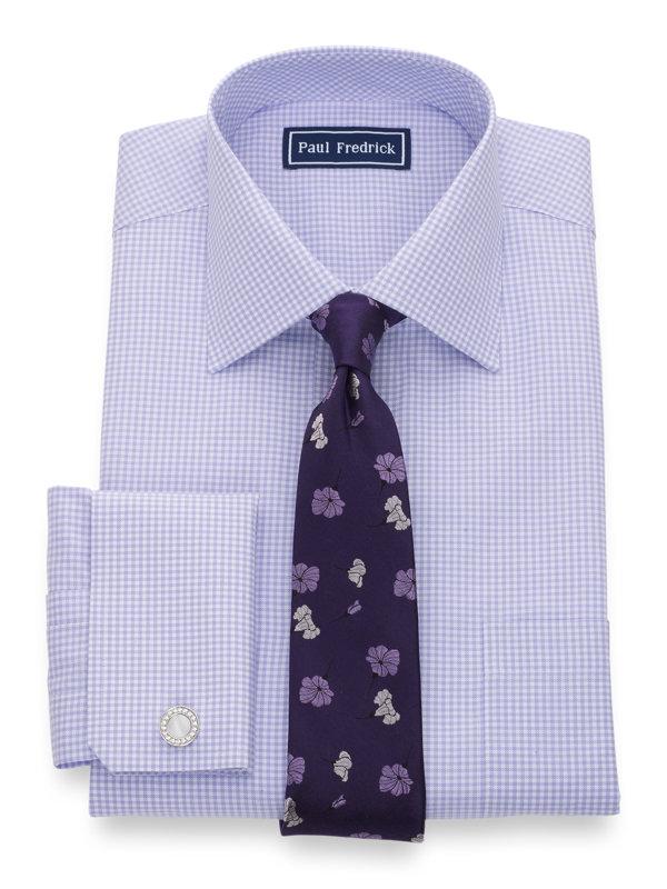 Pure Cotton Gingham French Cuff Dress Shirt