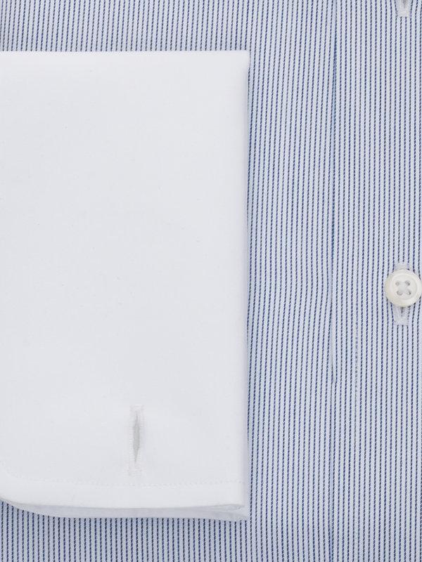 Slim Fit Pure Cotton Fine Line Stripe French Cuff Dress Shirt
