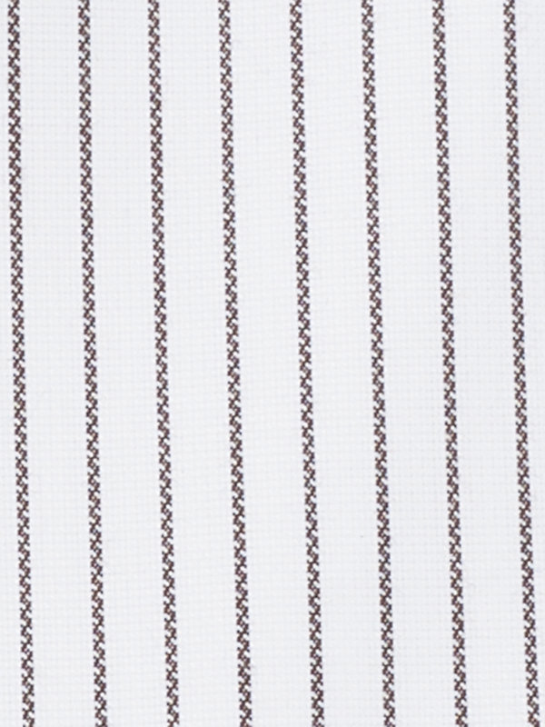 Slim Fit Non-Iron Cotton Textured Stripe Dress Shirt with Contrast Trim