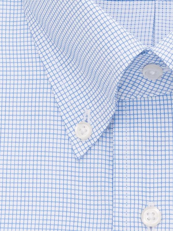 Pure Cotton Mini-Check Button Cuff Dress Shirt