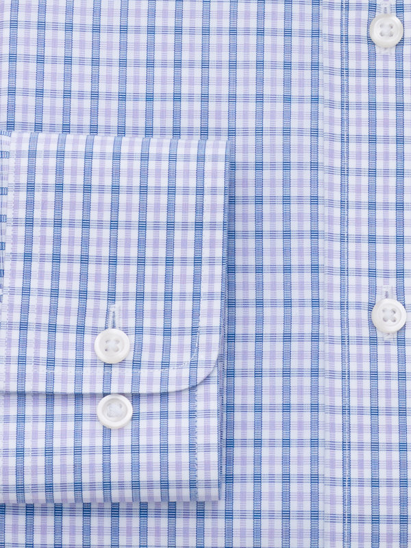 Tailored Fit Non-Iron Cotton Broadcloth Check Dress Shirt
