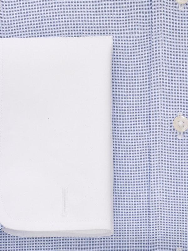 Non-Iron Cotton Textured Solid Dress Shirt