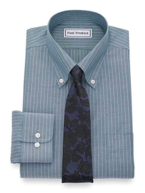 Non-Iron Textured Stripe Dress Shirt