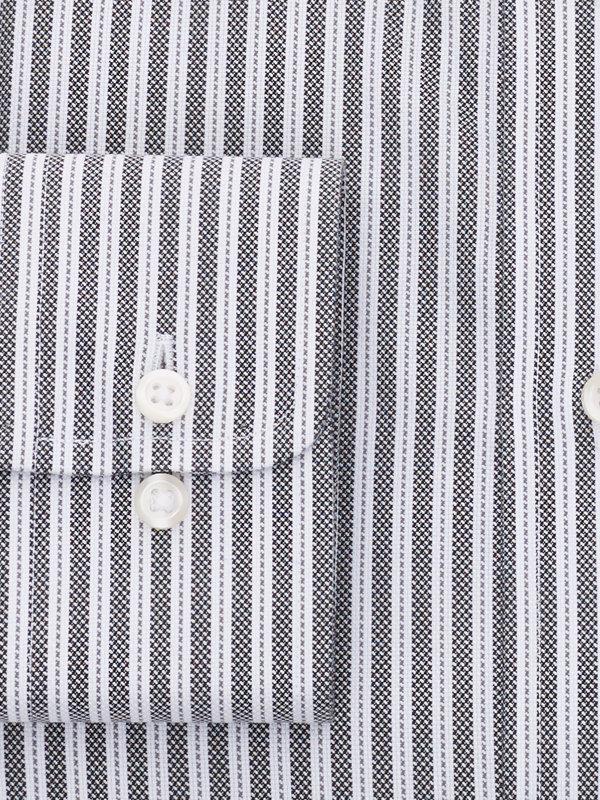 Tailored Fit Impeccable Non-Iron Cotton Royal Oxford Stripe Dress Shirt