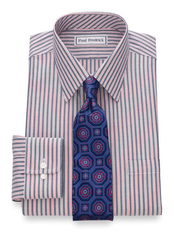 Slim Fit Impeccable Non-Iron Cotton Royal Oxford Stripe Dress Shirt