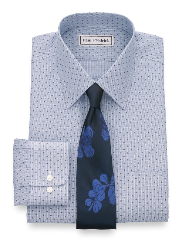 Impeccable Non-Iron Broadcloth Mini-Check Dress Shirt