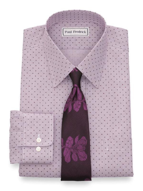 Impeccable Non-Iron Broadcloth Mini-Check Dress Shirt