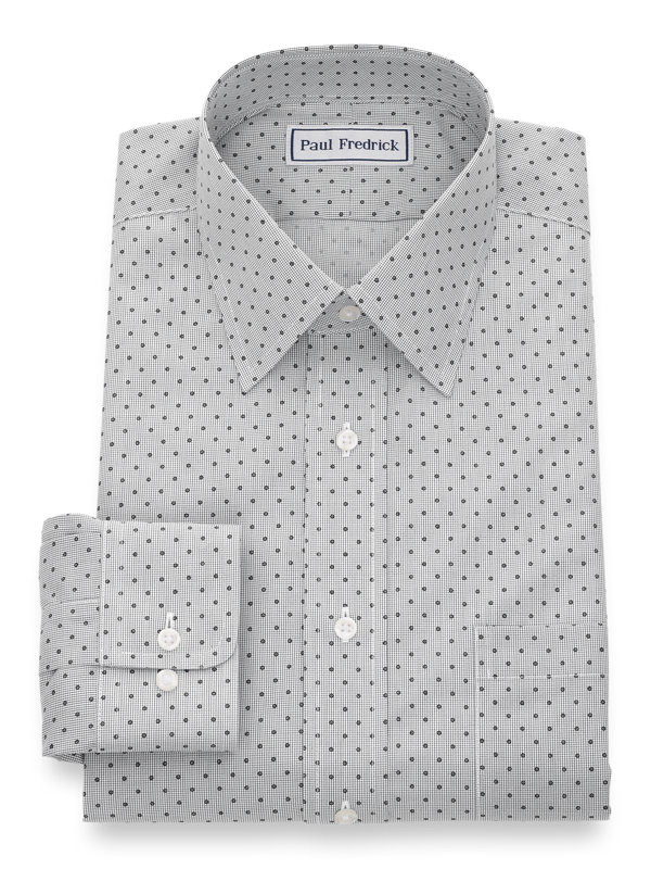 Slim Fit Impeccable Non-Iron Broadcloth Mini-Check Dress Shirt