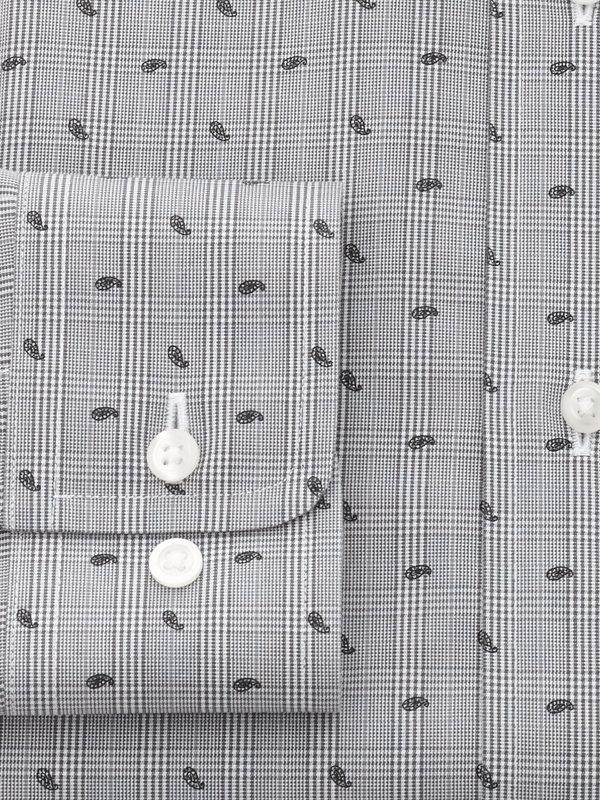Slim Fit Impeccable Non-Iron Broadcloth Glen Plaid Dress Shirt
