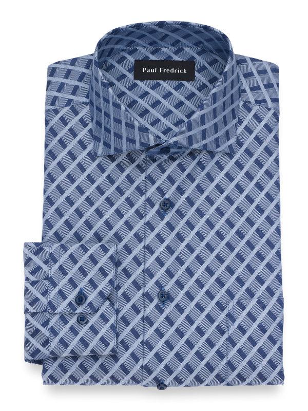 Non-Iron Cotton Diamond Dress Shirt