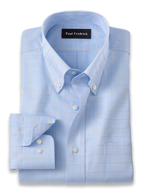 Pure Cotton Check Dress Shirt